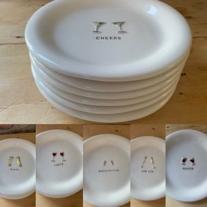 """Williams Sonoma """"Cheers"""" Appetizer Plate Set of 6"""